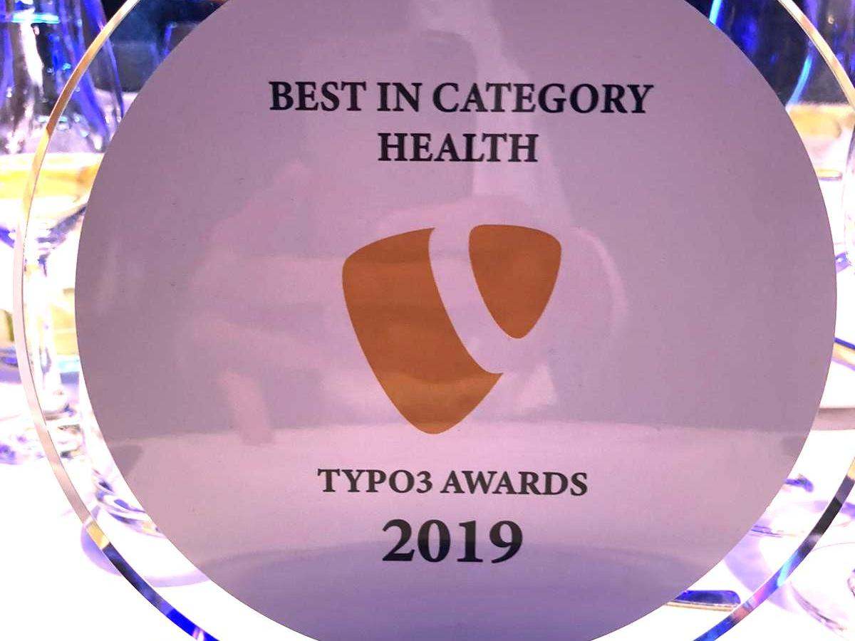 TYPO3 Awards 2019 | Kategorie: Health | Website: www.bsbh.org