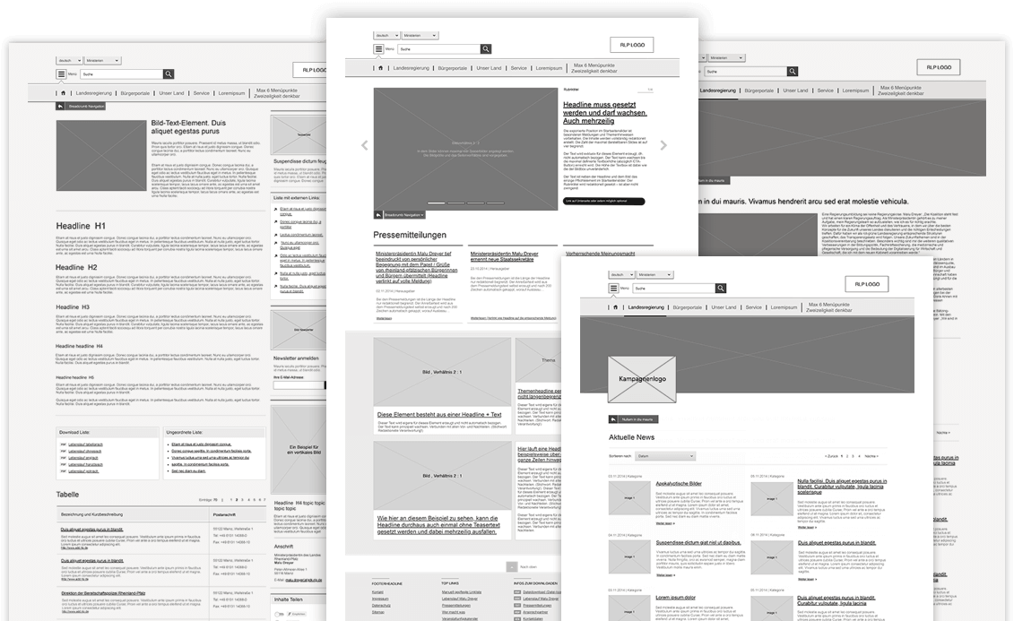 Wireframing, Konzeptionsphase